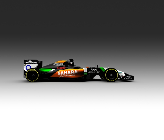 The only view we've been given of the Force India's new VJM07