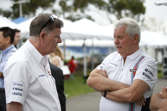 Group CEO Mike O' Driscoll (l) with Pat Symonds