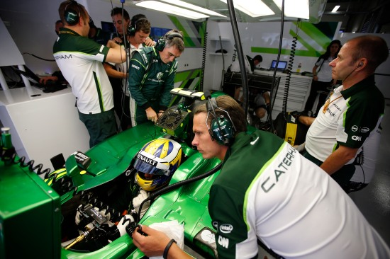 Sochi Autodrom, 10 October 2014: Marcus Ericsson in the garage.