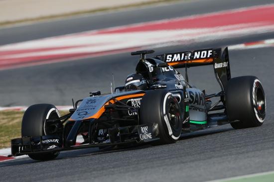 Sergio Perez in the VJM07.