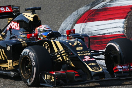 Romain Grosjean in the E23.
