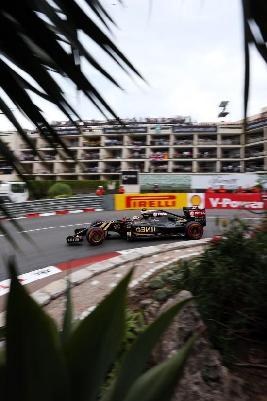Pastor Maldonado (VEN) Lotus F1 E23. Monaco Grand Prix, Saturday 23rd May 2015. Monte Carlo, Monaco.