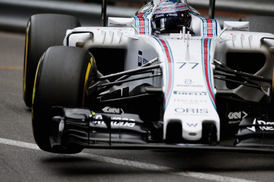 Monte Carlo, Monaco. Saturday 23 May 2015. Valtteri Bottas, Williams FW37 Mercedes. Photo: Glenn Dunbar/Williams ref: Digital Image _89P0913
