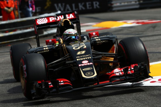 Romain Grosjean (FRA) Lotus F1 E23. Monaco Grand Prix, Saturday 23rd May 2015. Monte Carlo, Monaco.