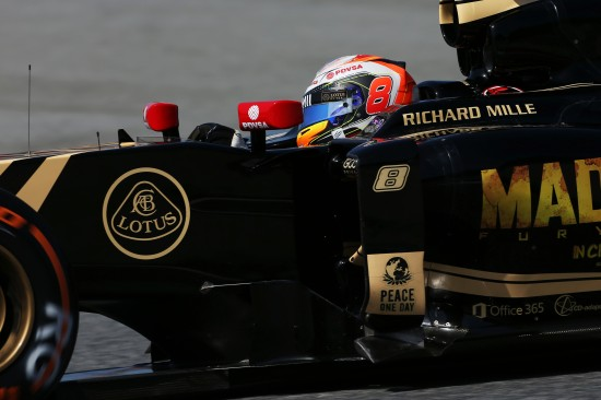 Romain Grosjean (FRA) Lotus F1 E23. Spanish Grand Prix, Saturday 9th May 2015. Barcelona, Spain.