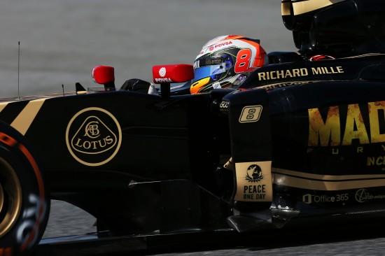 Romain Grosjean (FRA) Lotus F1 E23. Spanish Grand Prix, Saturday 9th May 2015. Barcelona, Spain.