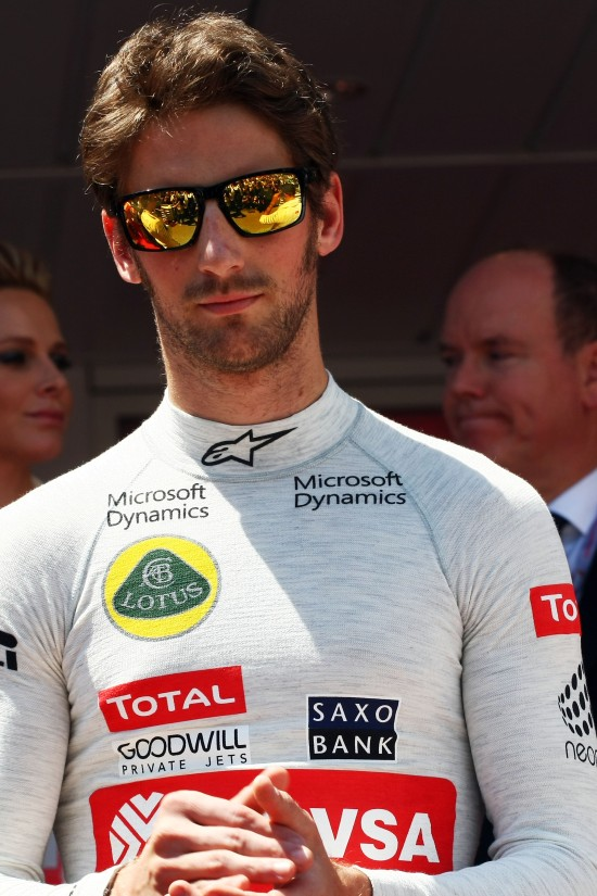 Romain Grosjean (FRA) Lotus F1 Team on the grid. Monaco Grand Prix, Sunday 24th May 2015. Monte Carlo, Monaco.
