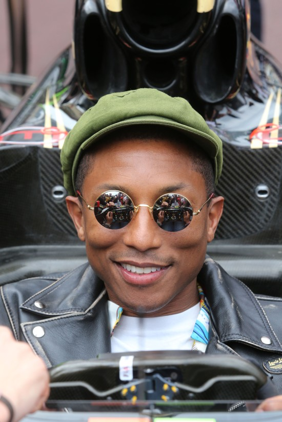 Pharrell Williams (USA) Singer-Songwriter with the Lotus F1 Team team. Monaco Grand Prix, Sunday 24th May 2015. Monte Carlo, Monaco.
