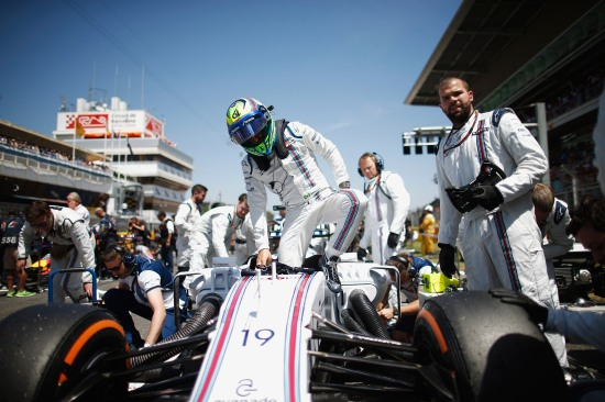 Felipe Massa arrives on the grid.
