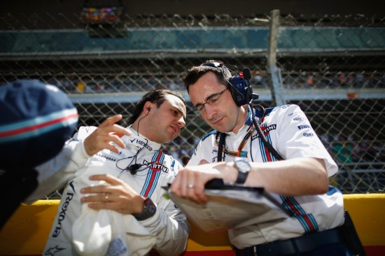 Felipe Massa and Dave Robson, Race Engineer.