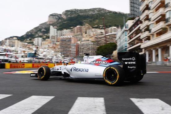 Monte Carlo, Monaco. Saturday 23 May 2015. Felipe Massa, Williams FW37 Mercedes. Photo: Steven Tee/Williams ref: Digital Image _X0W1180