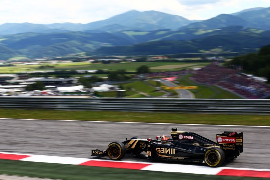 Romain Grosjean (FRA) Lotus F1 E23. Austrian Grand Prix, Sunday 21st June 2015. Spielberg, Austria.