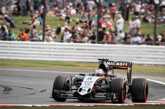 Nico Hulkenberg (GER) Sahara Force India F1 VJM08. British Grand Prix, Friday 3rd July 2015. Silverstone, England.