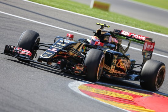 Pastor Maldonado (VEN) Lotus F1 E23. Belgian Grand Prix, Saturday 22nd August 2015. Spa-Francorchamps, Belgium.