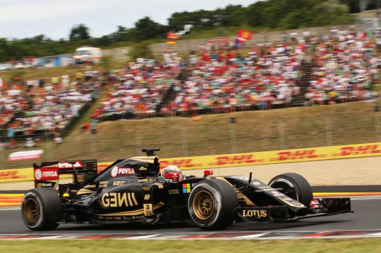 Romain Grosjean (FRA) Lotus F1 E23. Hungarian Grand Prix, Sunday 26th July 2015. Budapest, Hungary.