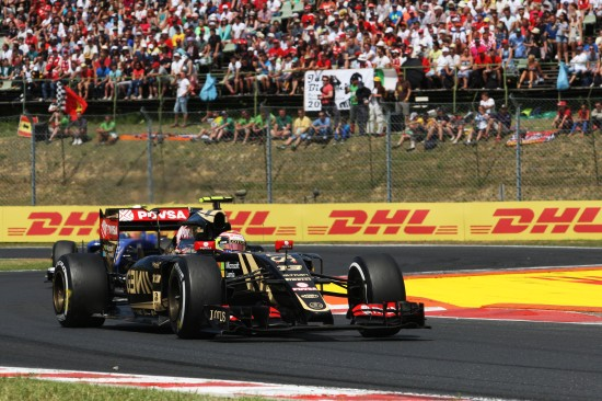 Pastor Maldonado (VEN) Lotus F1 E23. Hungarian Grand Prix, Sunday 26th July 2015. Budapest, Hungary.