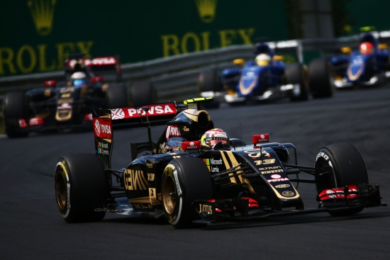 Pastor Maldonado (VEN) Lotus F1 E23. Hungarian Grand Prix, Sunday 26th July 2015. Budapest, Hungary.