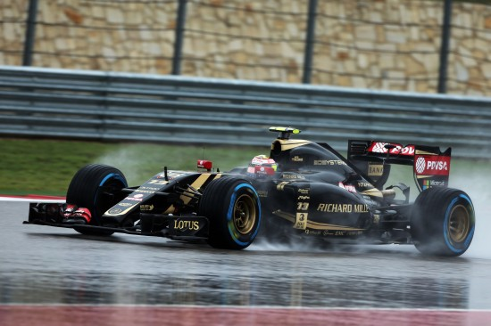 Pastor Maldonado (VEN) Lotus F1 E23. United States Grand Prix, Saturday 24th November 2015. Circuit of the Americas, Austin, Texas, USA.
