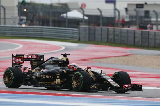 Romain Grosjean (FRA) Lotus F1 E23. United States Grand Prix, Sunday 25th November 2015. Circuit of the Americas, Austin, Texas, USA.
