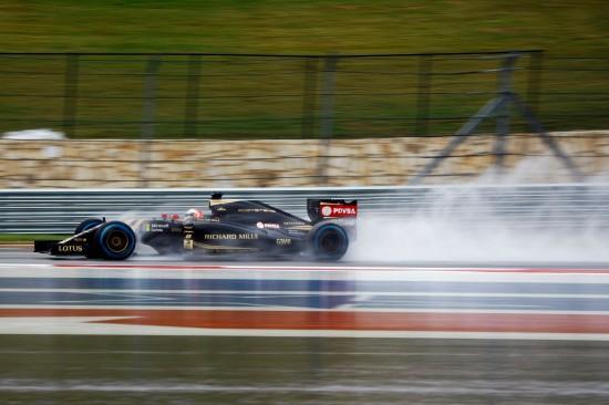 Romain Grosjean (FRA) Lotus F1 E23. United States Grand Prix, Saturday 24th November 2015. Circuit of the Americas, Austin, Texas, USA.