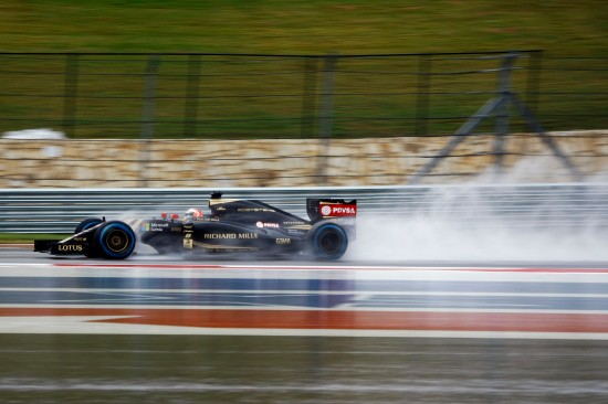 Romain Grosjean (FRA) Lotus F1 E23. United States Grand Prix, Saturday 24th November 2015. Circuit of the Americas, Austin, Texas, USA.
