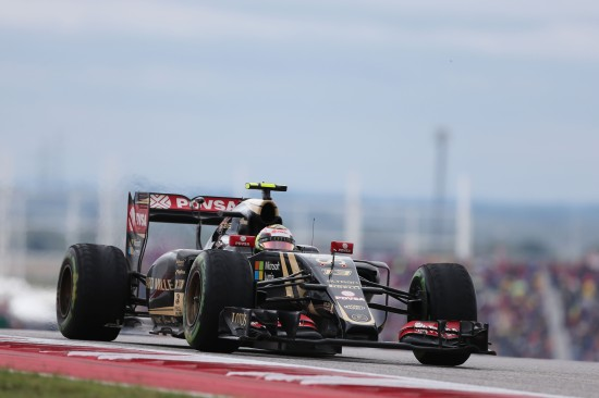 Pastor Maldonado (VEN) Lotus F1 E23. United States Grand Prix, Sunday 25th November 2015. Circuit of the Americas, Austin, Texas, USA.