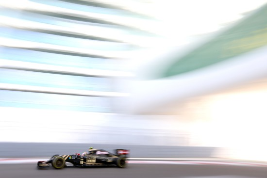 Pastor Maldonado (VEN) Lotus F1 E23. Abu Dhabi Grand Prix, Friday 27th November 2015. Yas Marina Circuit, Abu Dhabi, UAE.