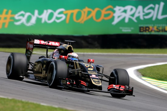 Romain Grosjean (FRA) Lotus F1 E23. Brazilian Grand Prix, Saturday 14th November 2015. Sao Paulo, Brazil.