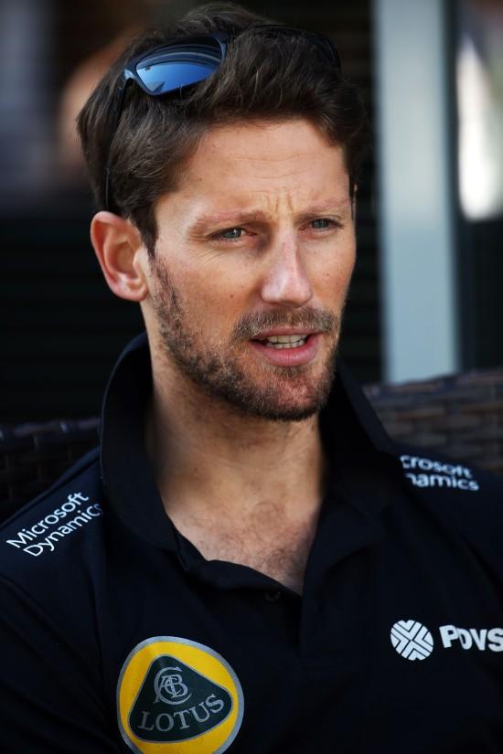 Romain Grosjean (FRA) Lotus F1 Team. Russian Grand Prix, Thursday 8th October 2015. Sochi Autodrom, Sochi, Russia.