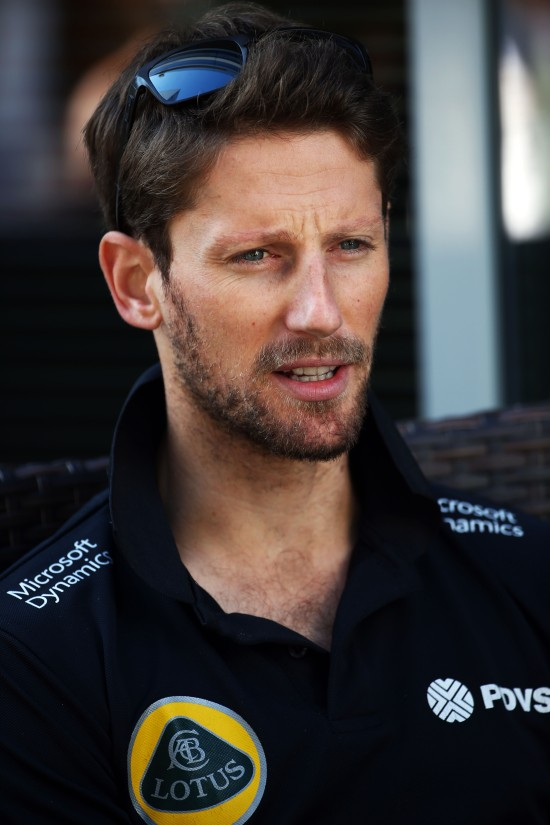 Romain Grosjean (FRA) Lotus F1 Team. Russian Grand Prix, Thursday 8th October 2015. Sochi Autodrom, Sochi, Russia.