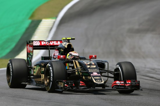 Pastor Maldonado (VEN) Lotus F1 E23. Brazilian Grand Prix, Saturday 14th November 2015. Sao Paulo, Brazil.