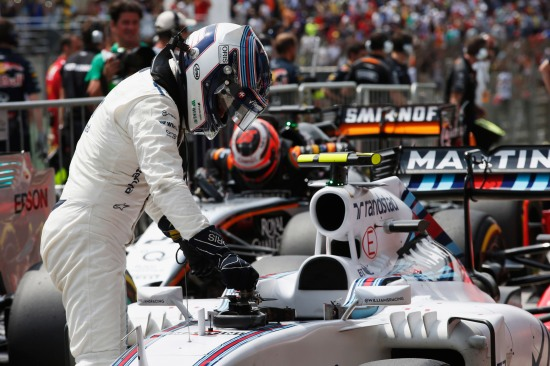 Valtteri Bottas in Parc Ferme after qualifying. Copyright: Steven Tee/LAT Photographic