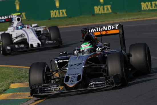 Nico Hulkenberg in the VJM09.