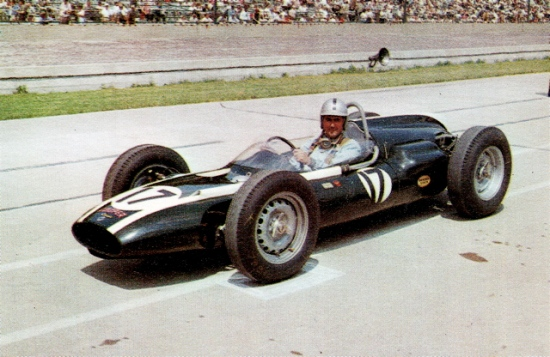 Jack Brabham in his debut year at the Speedway