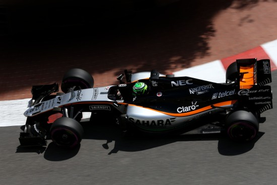 Nico Hulkenberg (GER) Sahara Force India F1 VJM09. Monaco Grand Prix, Saturday 28th May 2016. Monte Carlo, Monaco.
