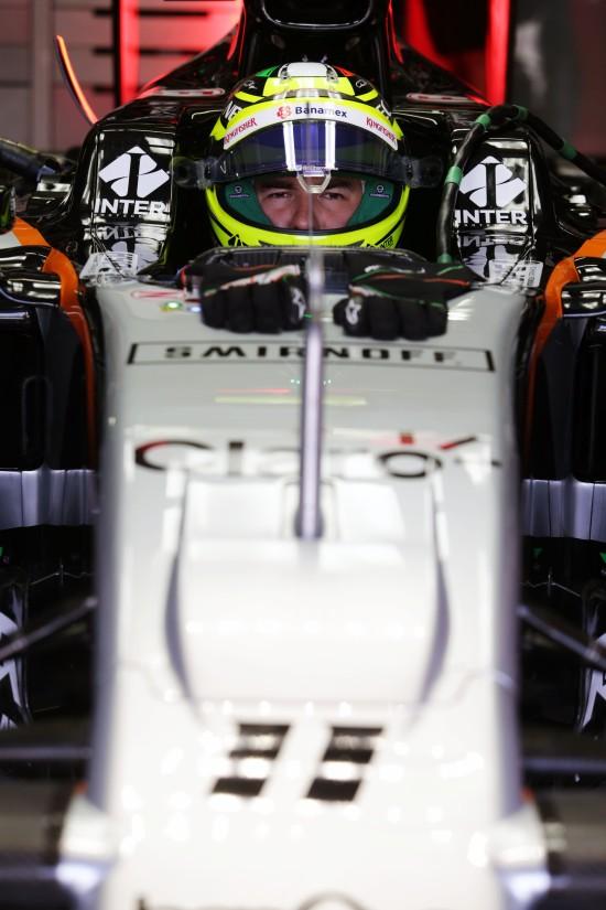 Sergio Perez (MEX) Sahara Force India F1 VJM09. German Grand Prix, Saturday 30th July 2016. Hockenheim, Germany.