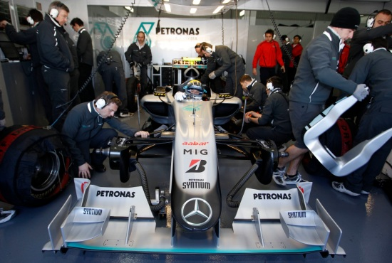 First Silver Arrows Test - Valencia 2010